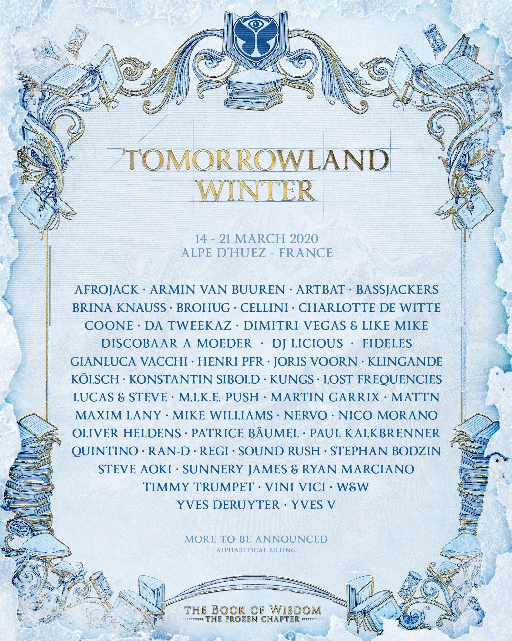 Tomorrowland Winter 2020 Lineup