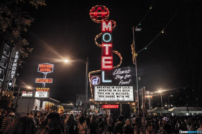 Life is Beautiful 2019 Motel Sign