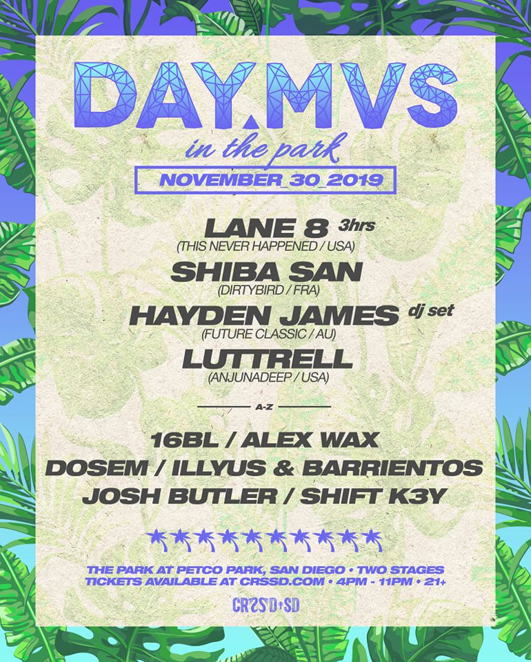 DAY MVS in the Park 2019 Lineup