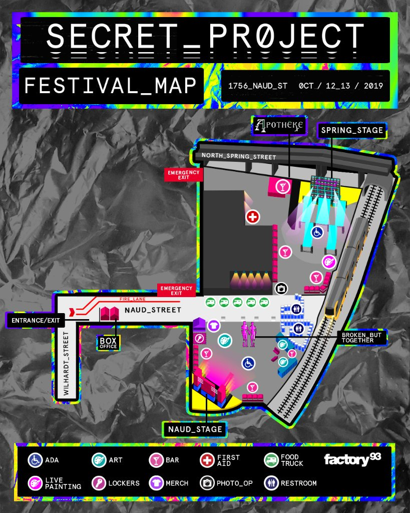 Secret Project Festival 2019 Map
