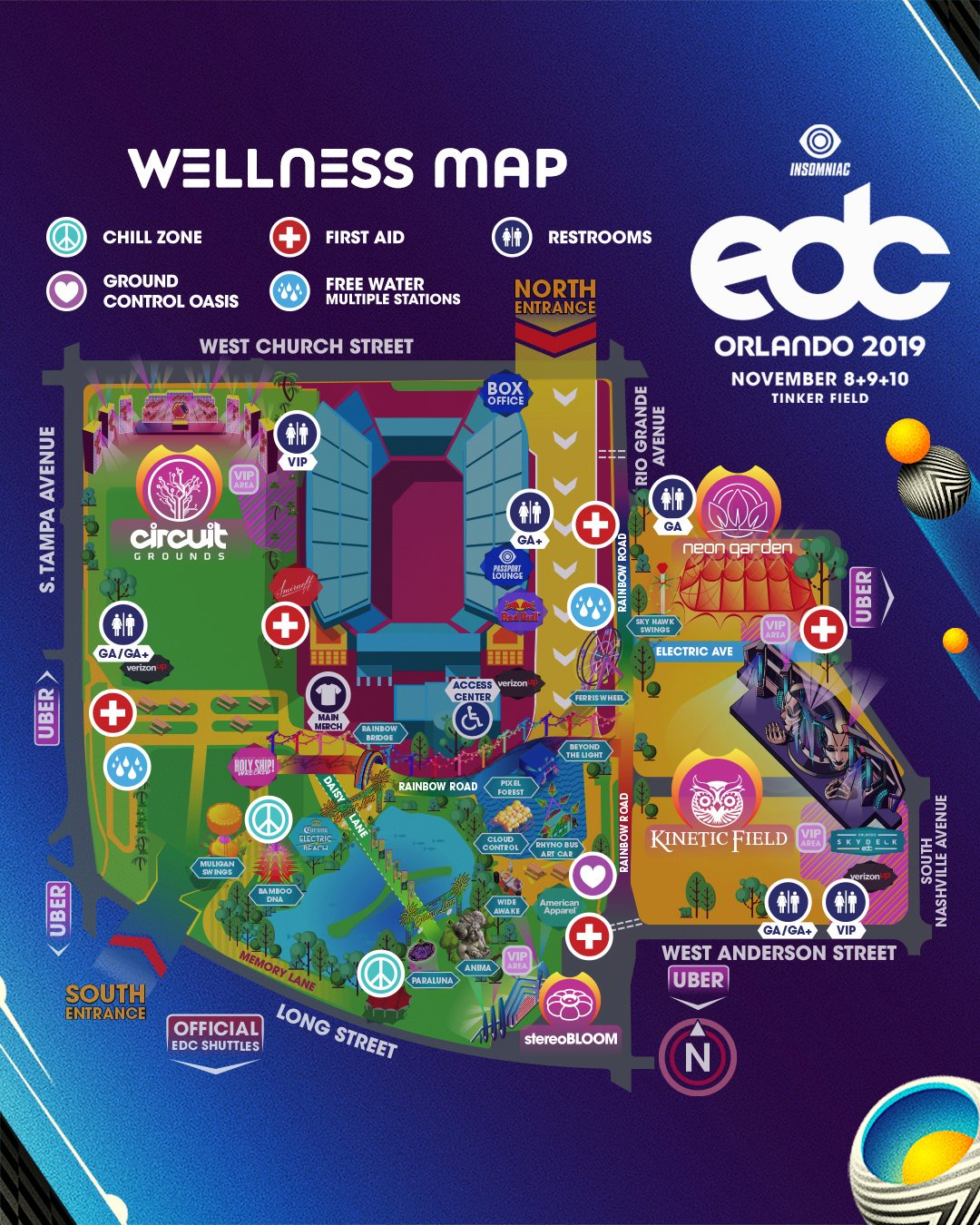 EDC Orlando 2019 Wellness Map