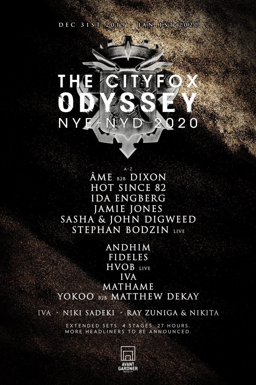 The Cityfox Odyssey 2020 Initial Lineup