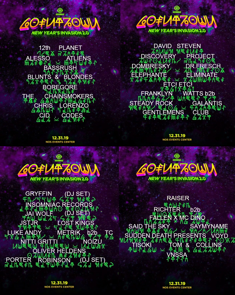 Countdown 2019 Lineup (Decoded)