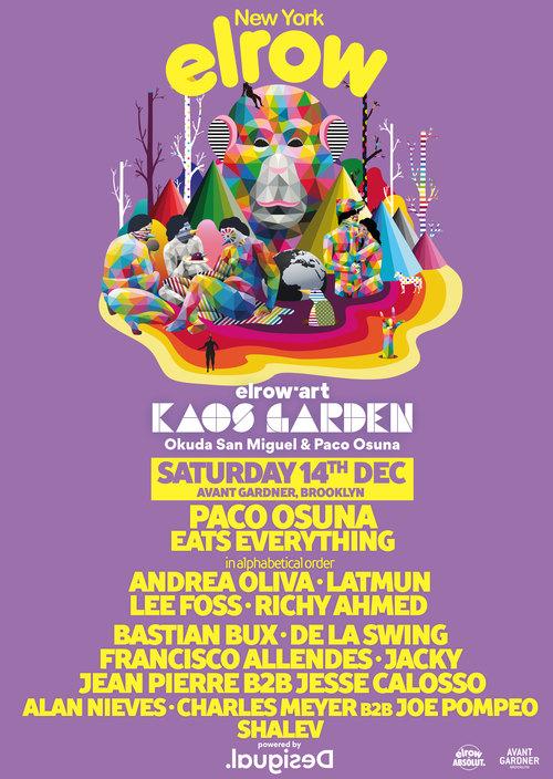 elrow'art Presents Kaos Garden 2019 Lineup