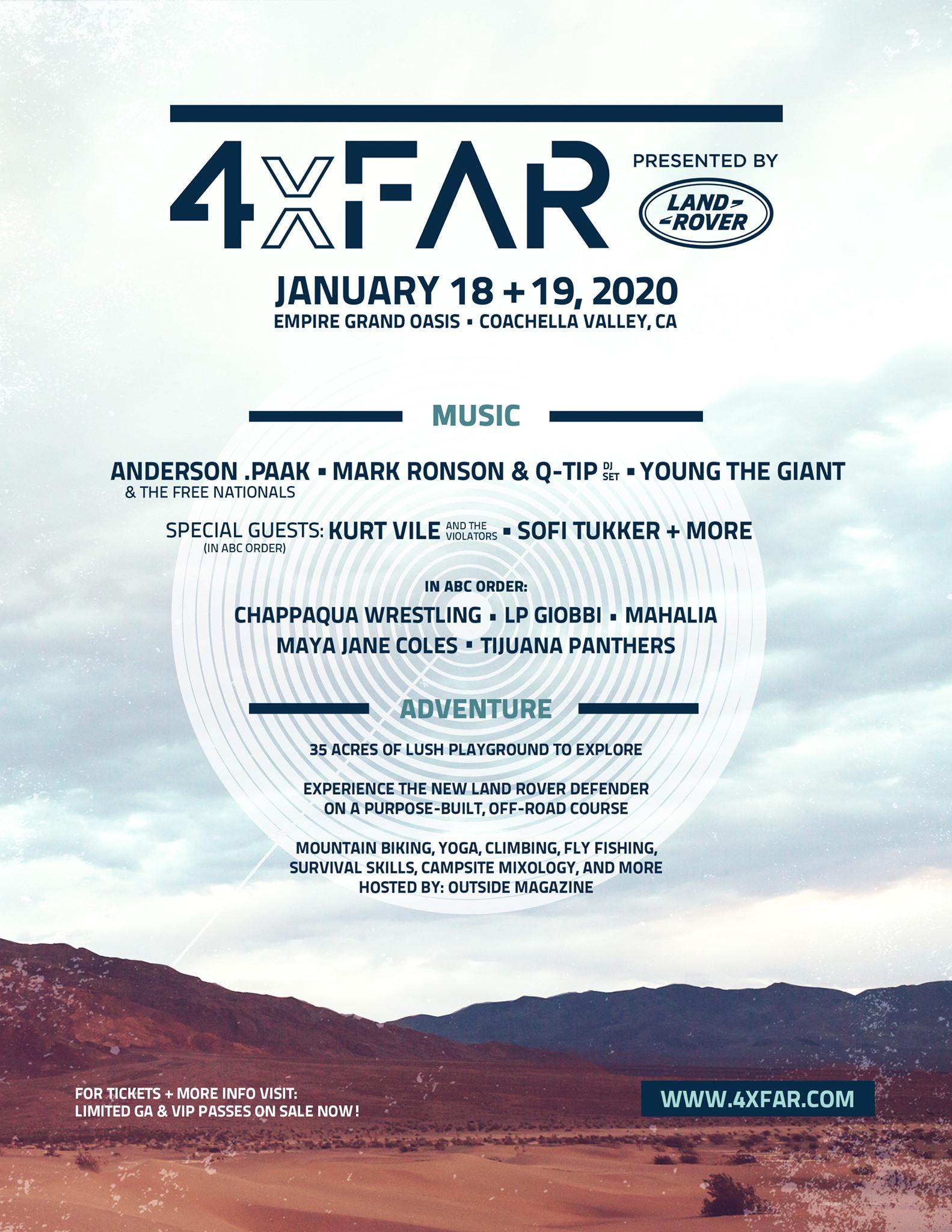 4xFAR 2020 Lineup
