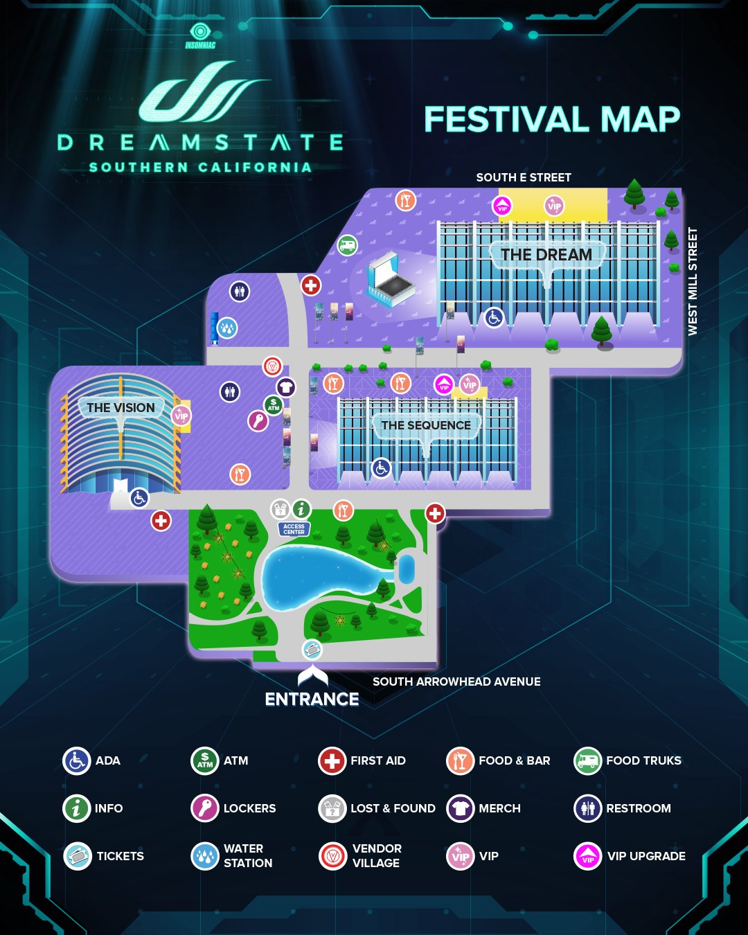 Dreamstate SoCal 2019 Map