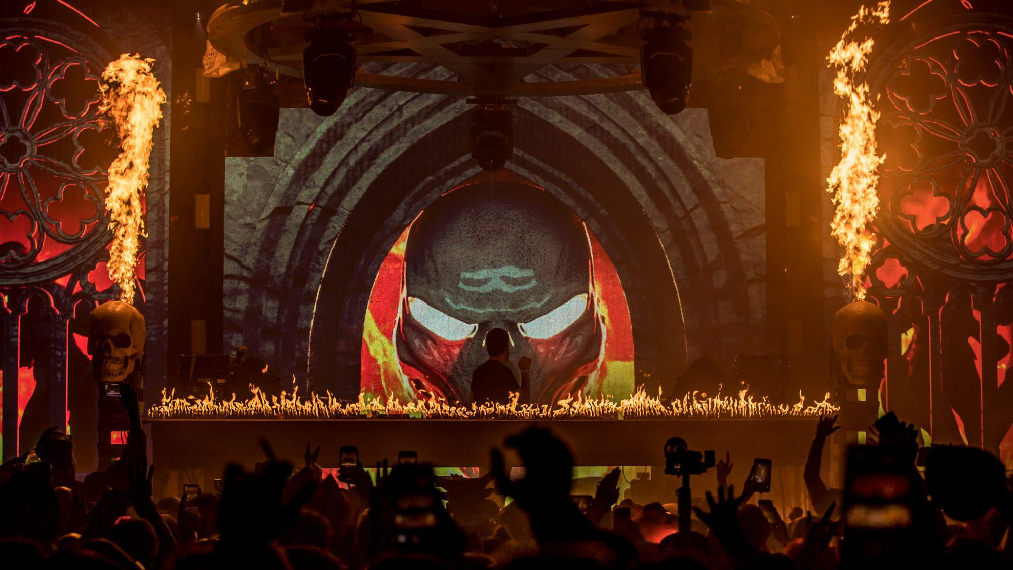 Gui Boratto on The Great Hell stage Cityfox Halloween Festival 2019