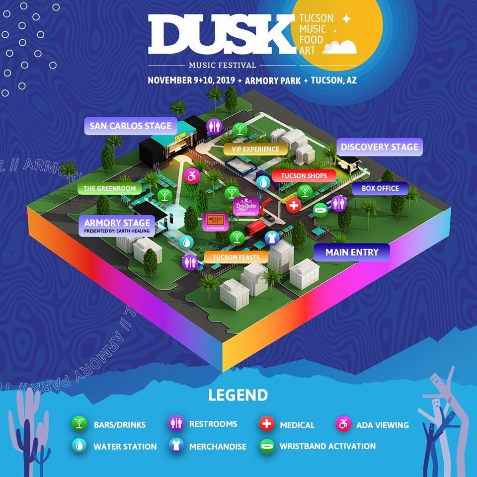 Dusk Music Festival 2019 Map