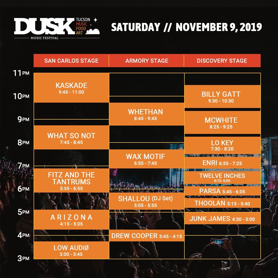 Dusk Saturday Set Times