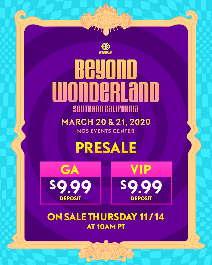 Beyond Wonderland SoCal 2020 Ticket Info