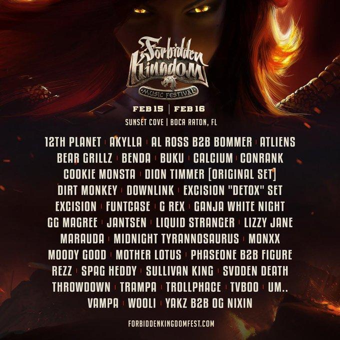 Forbidden Festival 2020 Lineup Flyer