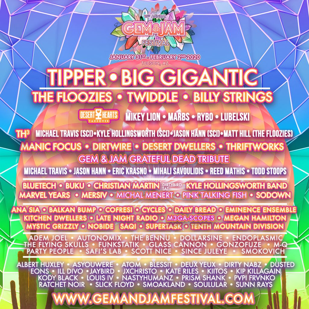 Gem and Jam Phase 2 Lineup