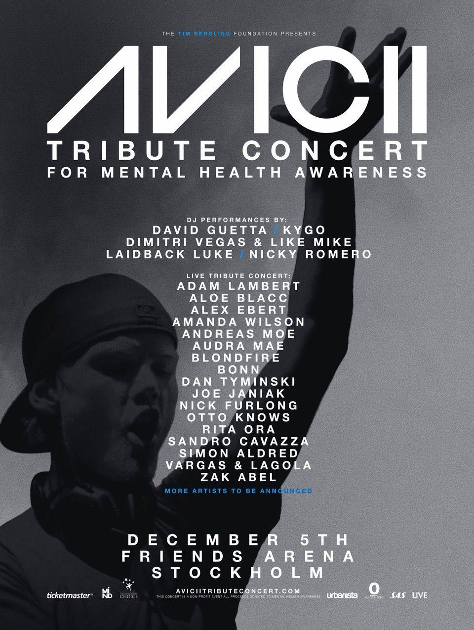Avicii Tribute Concert Poster