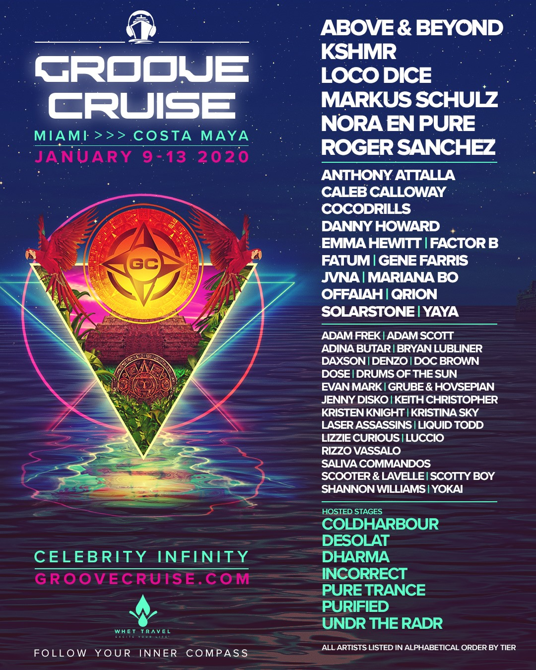 Groove Cruise Miami 2020 Final Lineup