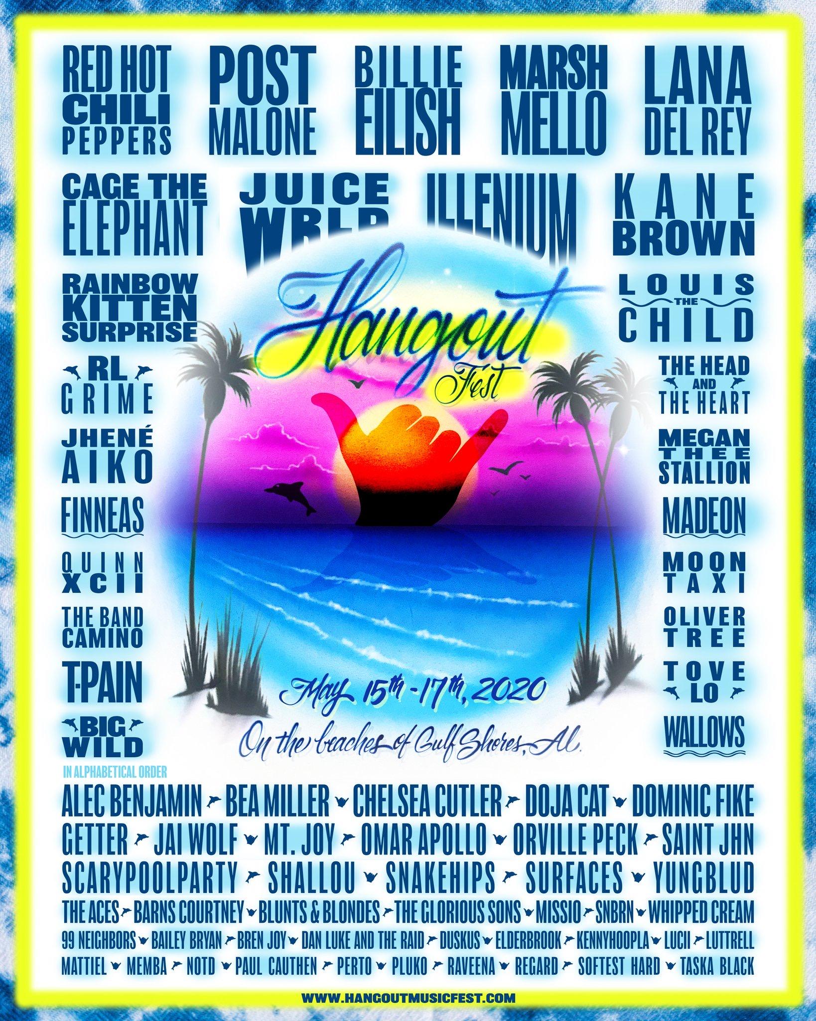 Hangout Music Festival 2020 Lineup
