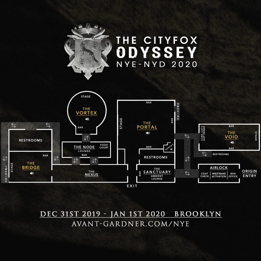 Cityfox Odyssey Festival Map
