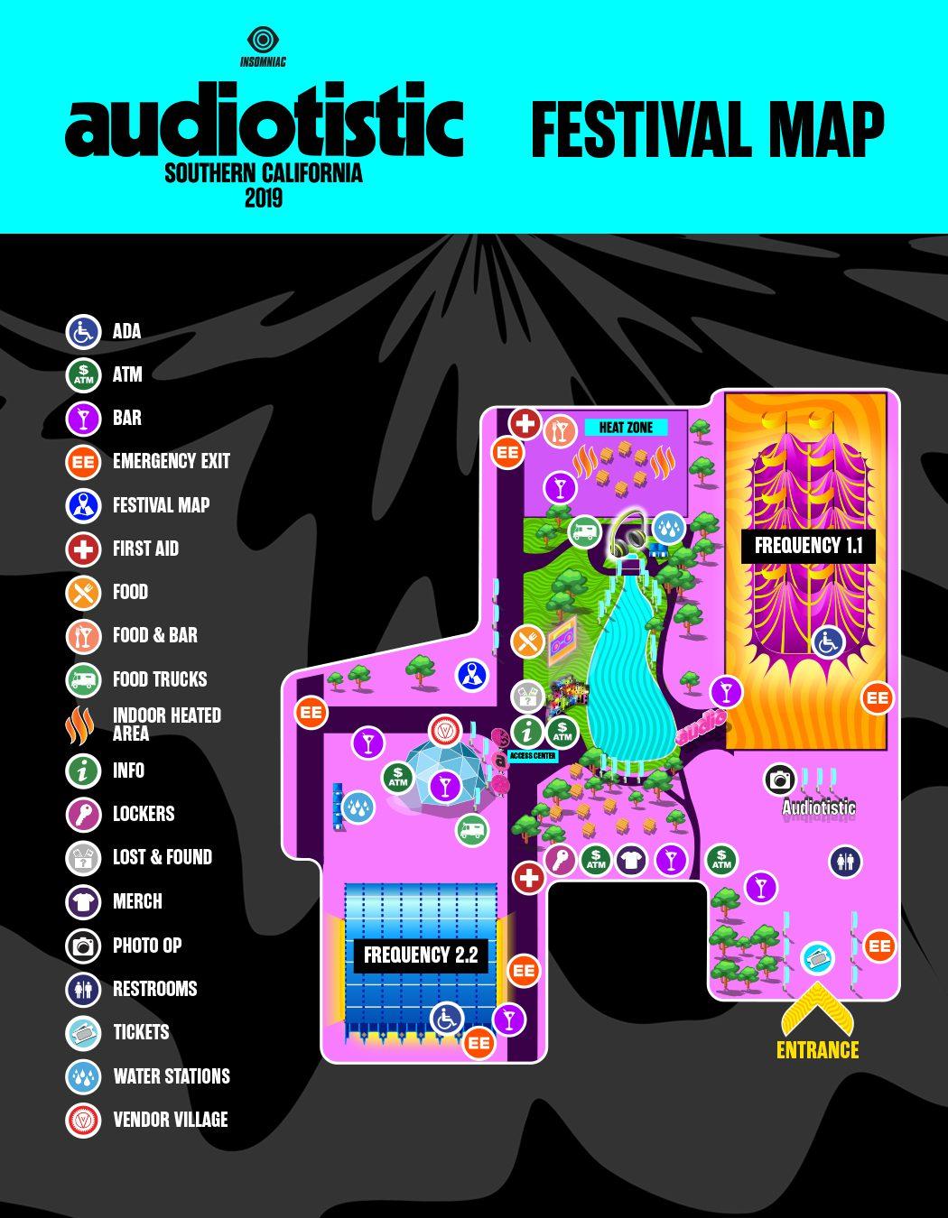 Audiotistic SoCal 2019 Festival Map