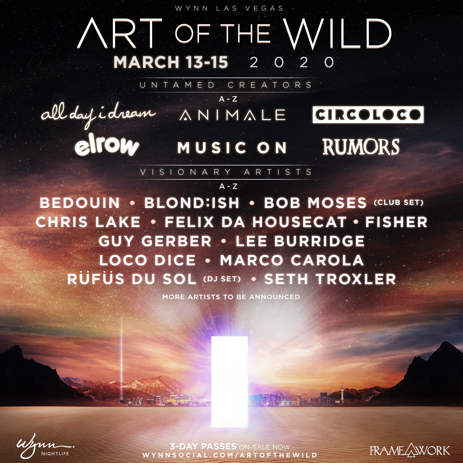 Art of the Wild 2020 Spring Lineup