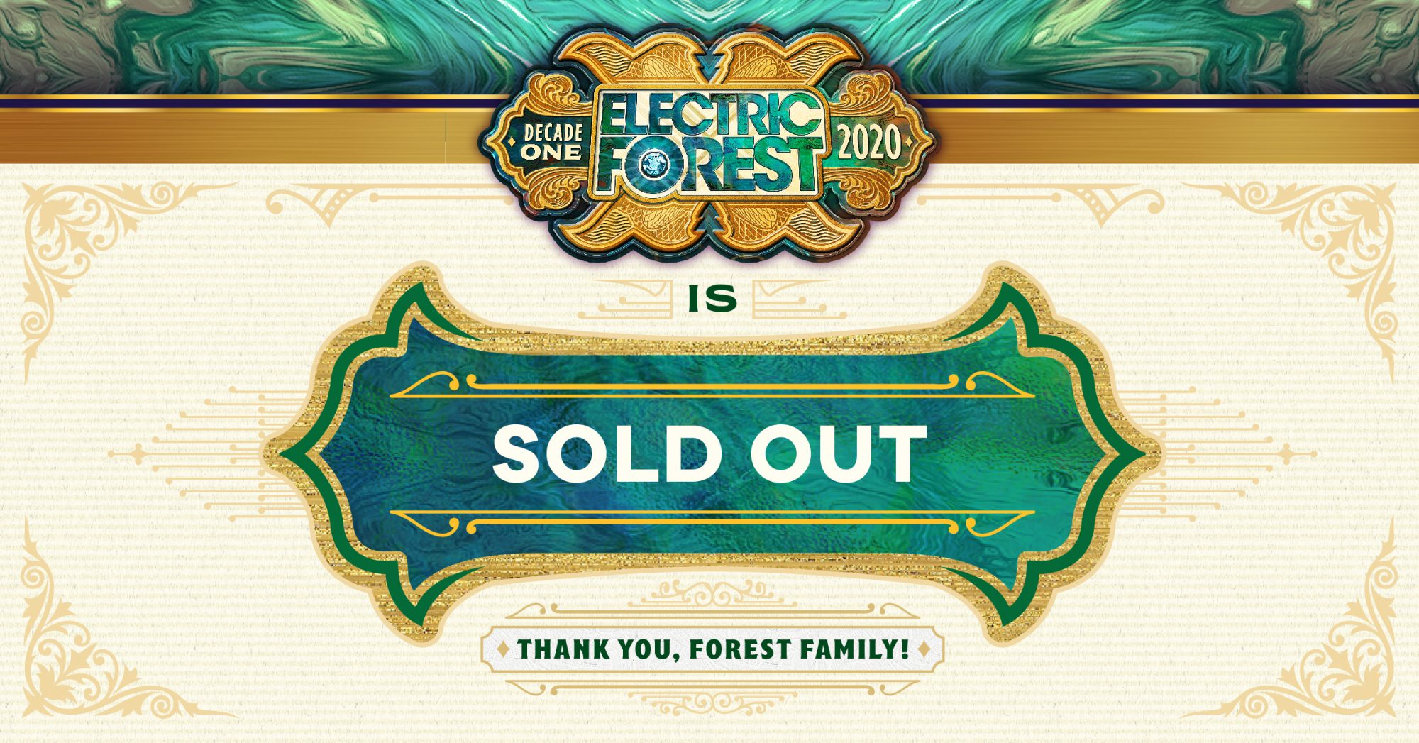 Electric Forest 2020 Sold Out