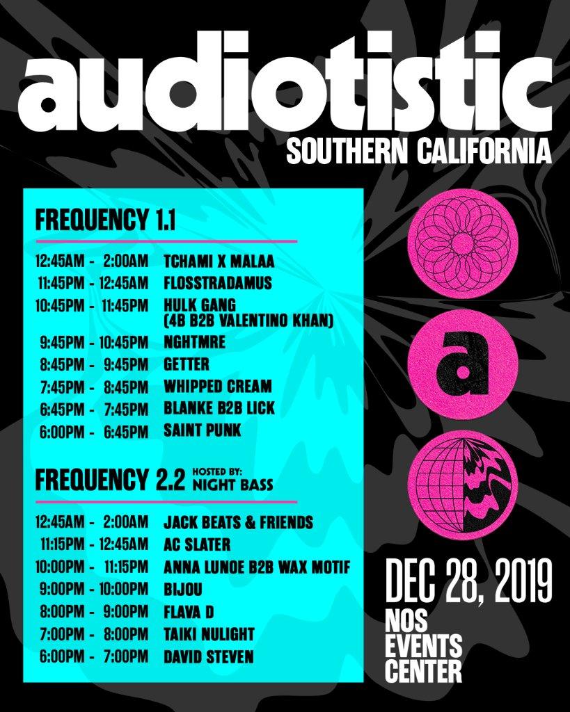 Audiotistic SoCal 2019 Set Times