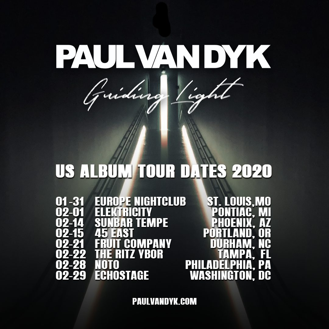 Paul van Dyk Guiding Light World Tour 2020 US