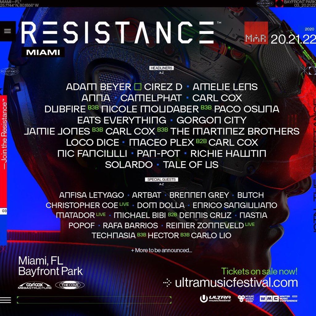 Ultra Music Festival RESISTANCE 2020