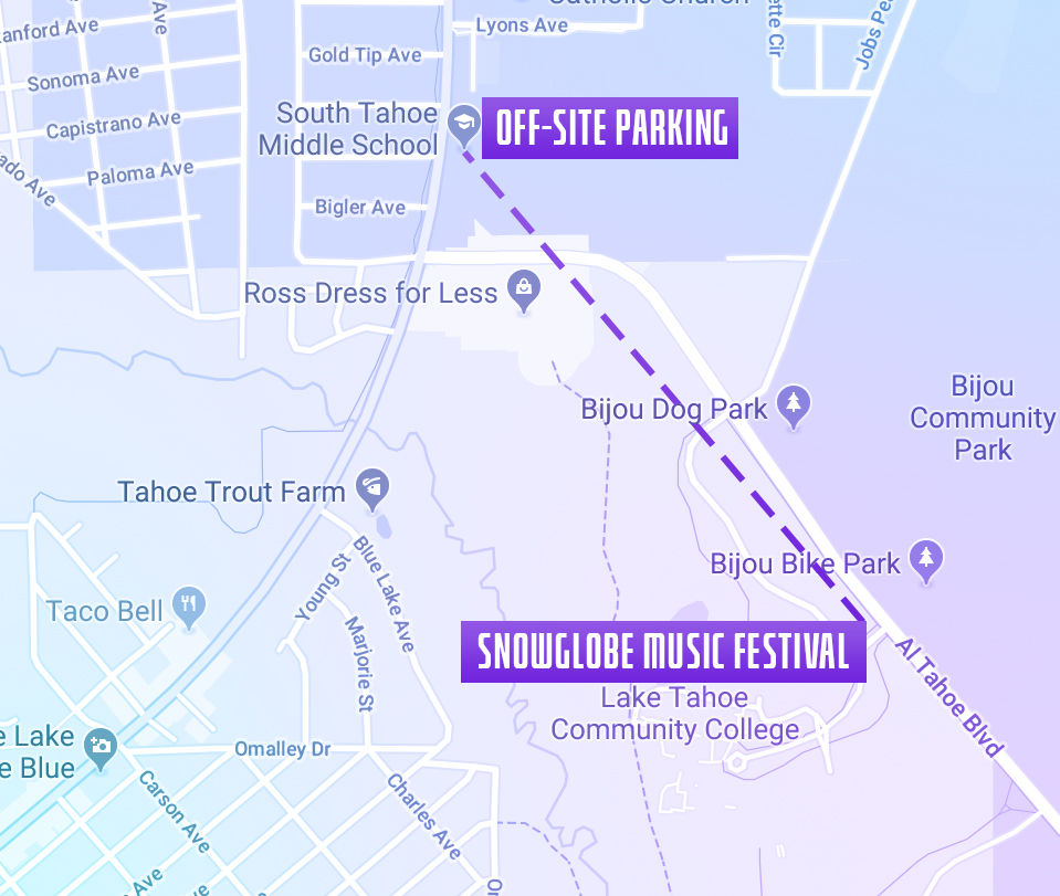 SnowGlobe 2019 Parking Map