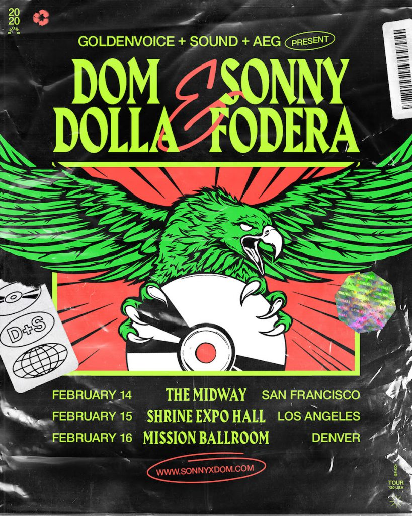 Dom Dolla and Sonny Fodera Co-Headlining Flyer