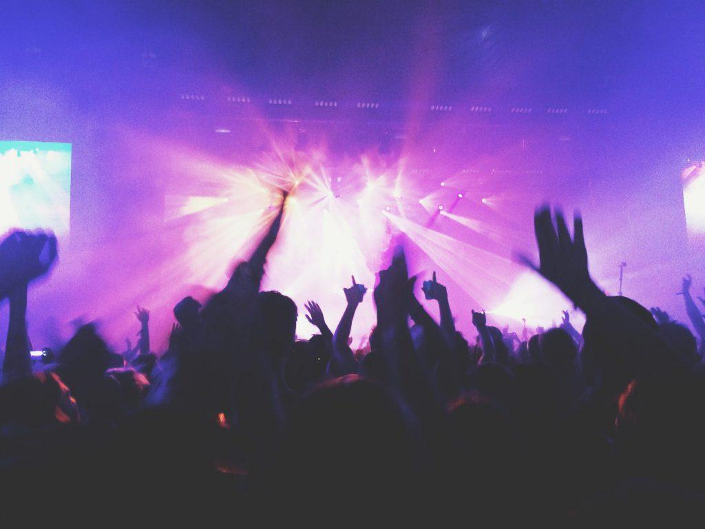 Concert Crowd Blurred