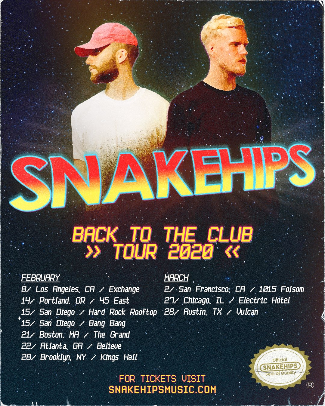 Snakehips' Back To The Club Tour 2020