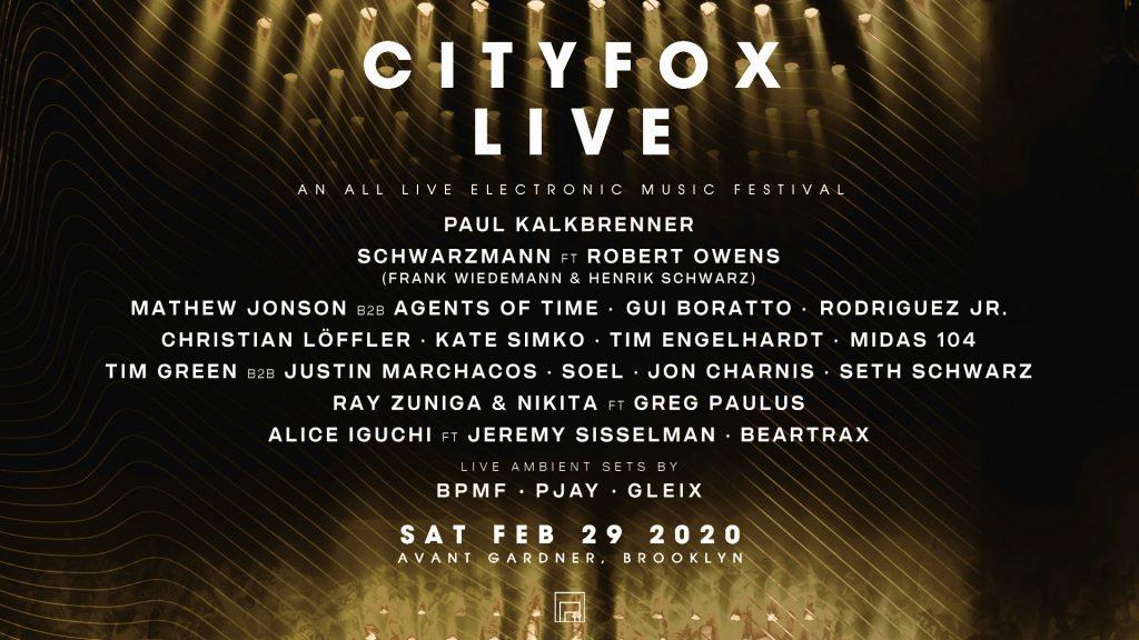 Cityfox Live 2020 Lineup