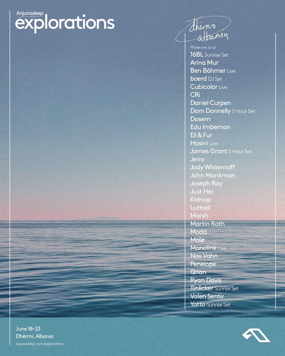 Anjunadeep presents: Explorations 2020 - Initial Lineup