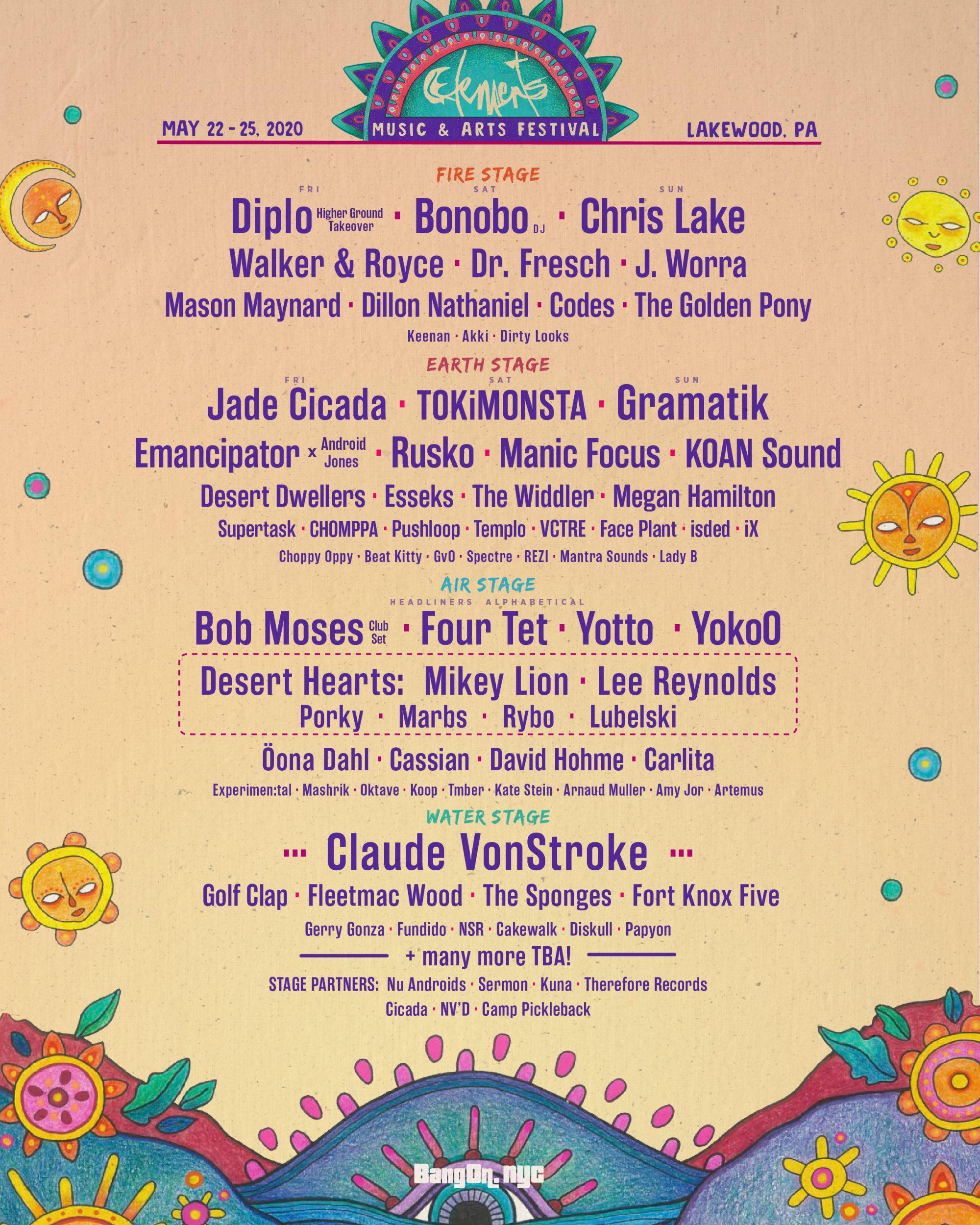 Elements Festival 2020 Lineup