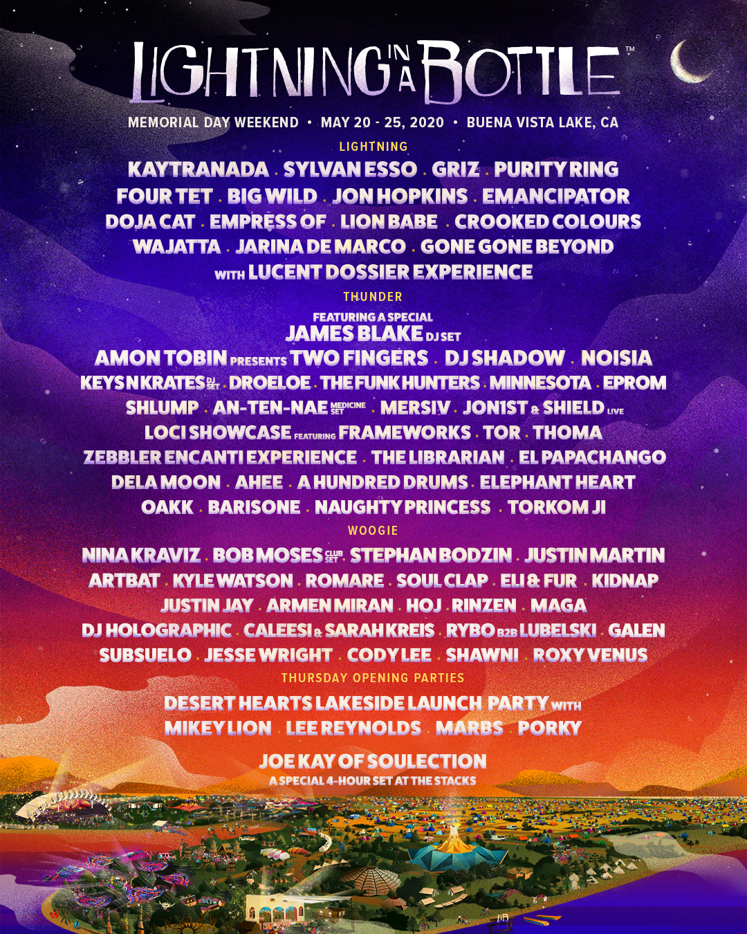 Lightning in a Bottle 2020 Phase 1 Lineup