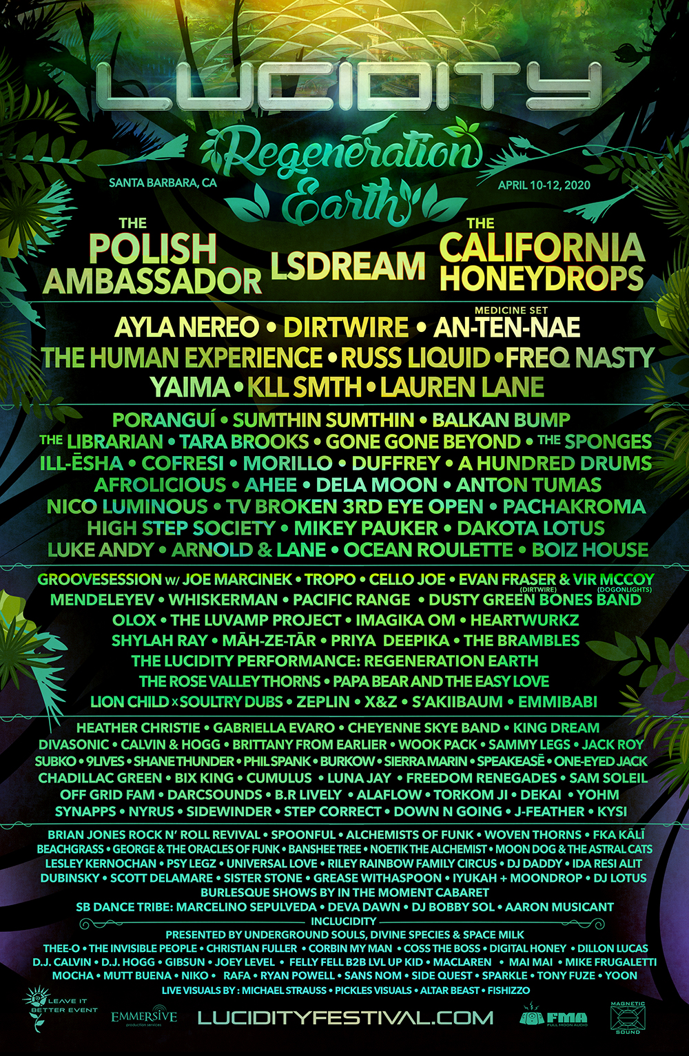 Lucidity Festival 2020 Lineup