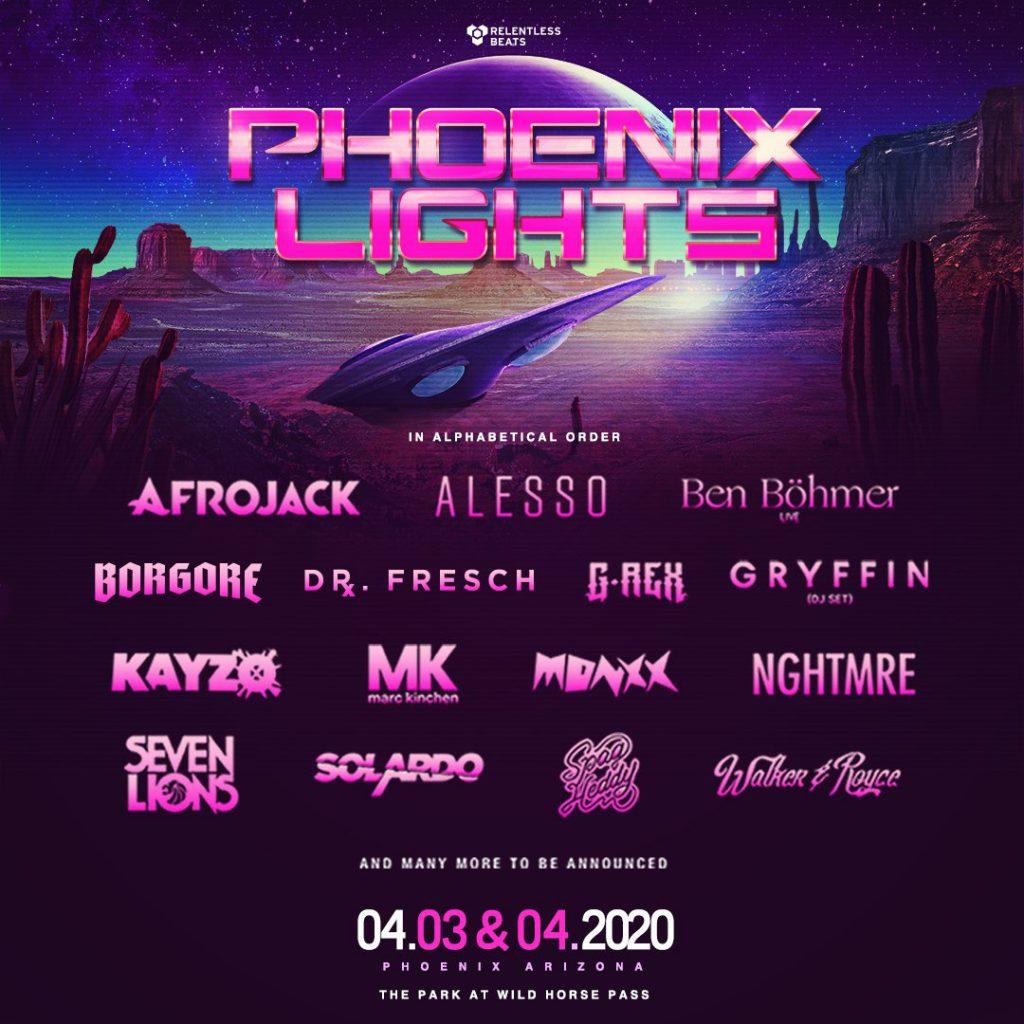 Phoenix Lights Phase One Lineup