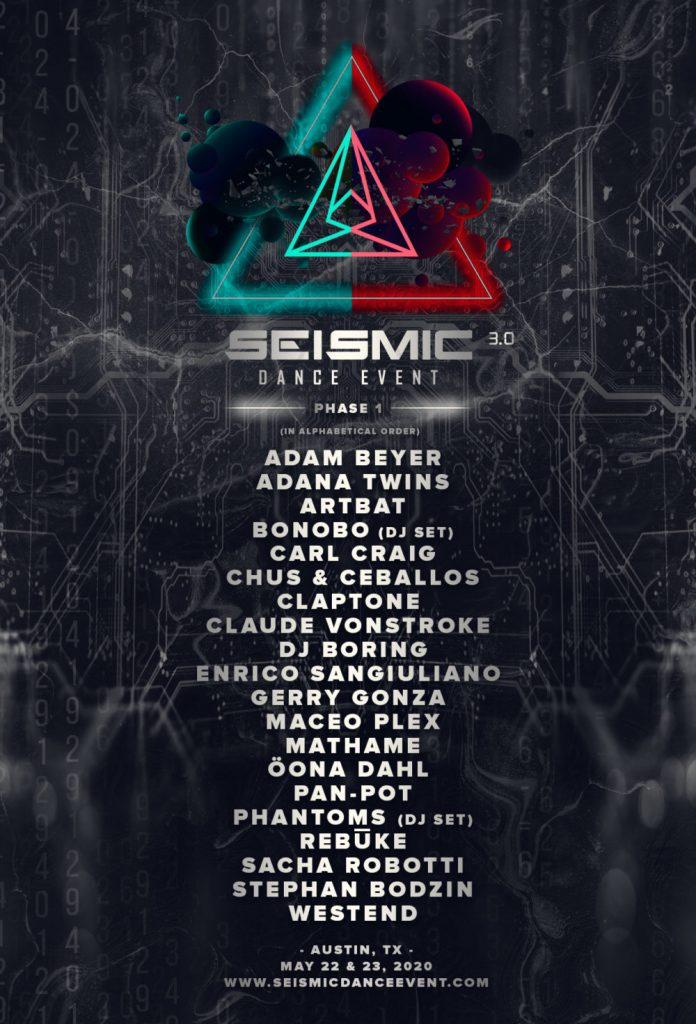 Seismic Dance Event 2020 Phase One Lineup