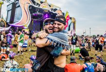 Electric Forest 2019 Brothers Hugging