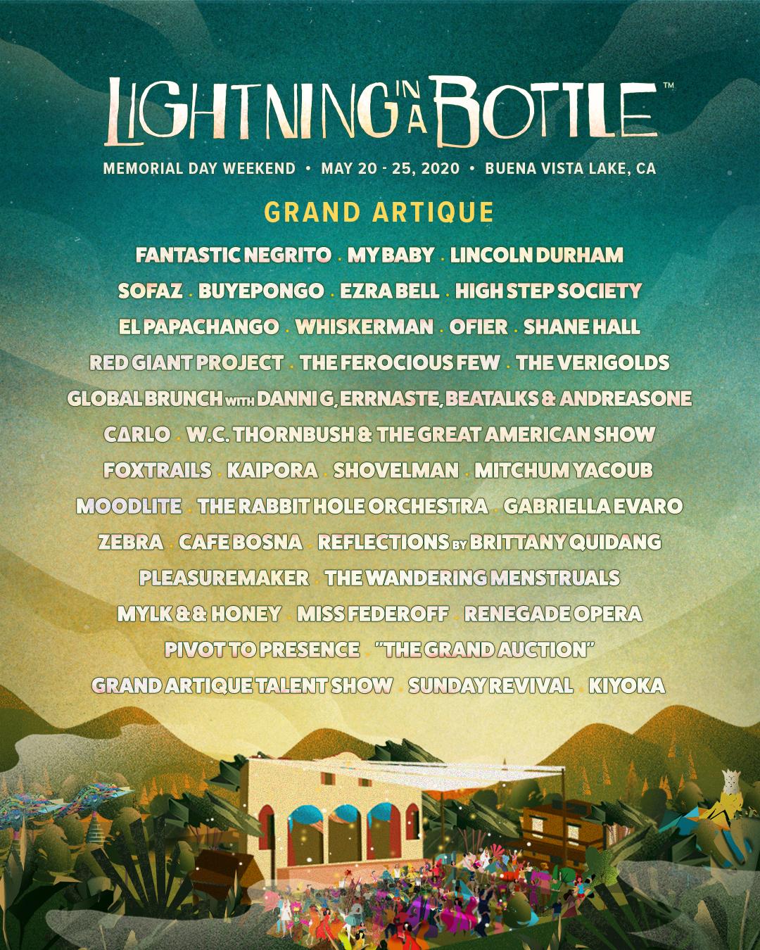 Lightning in a Bottle 2020 - Grand Artique Lineup