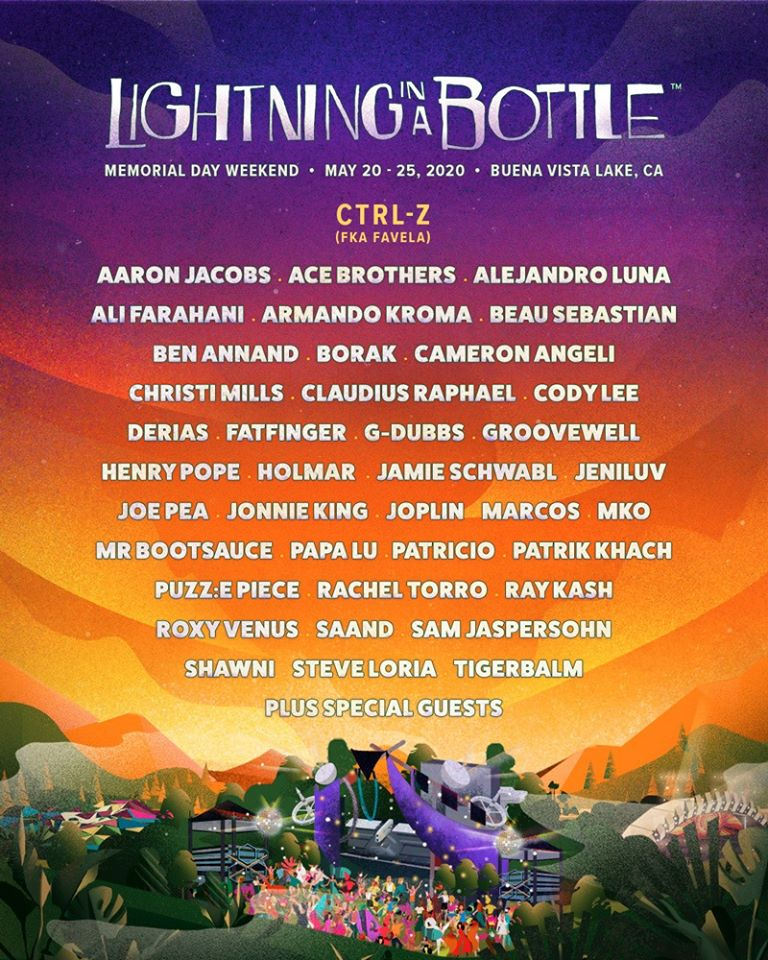 Lightning in a Bottle 2020 - CTRL-Z Lineup