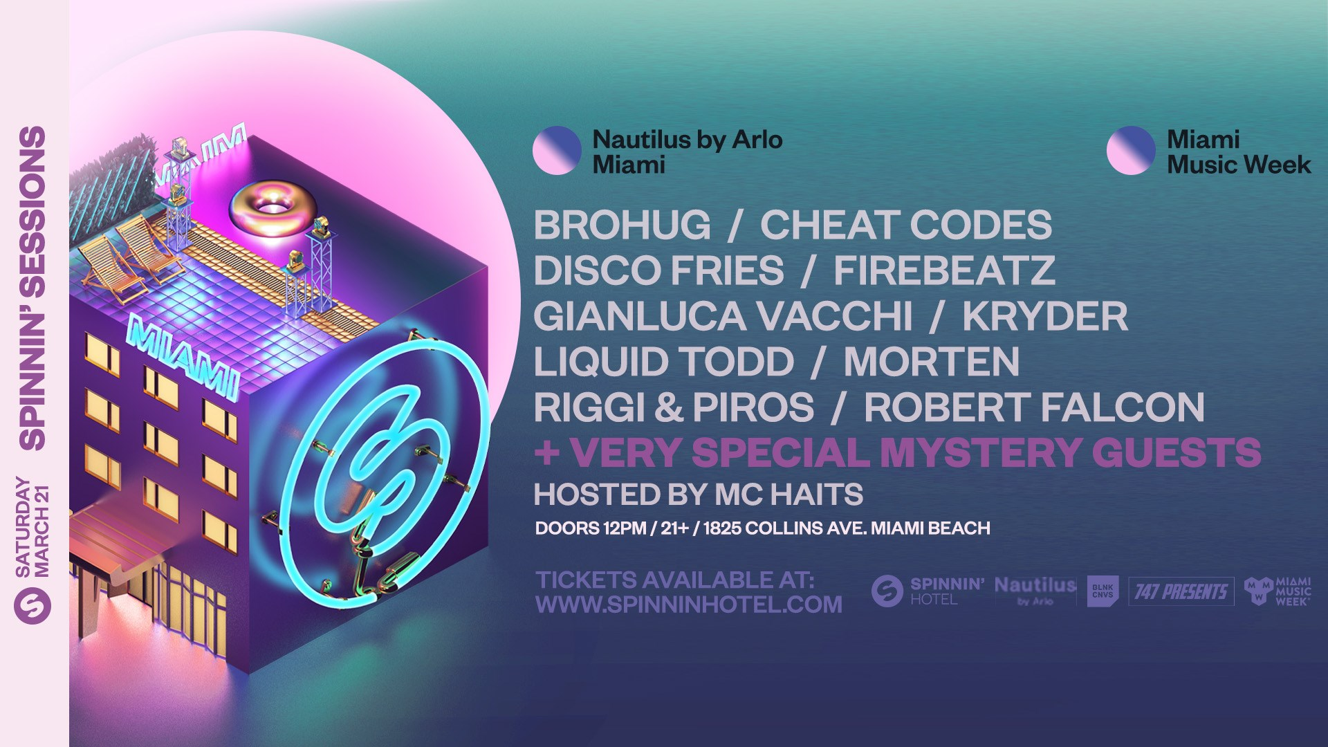 Spinnin' Sessions   Spinnin' Hotel Miami 2020 Lineup