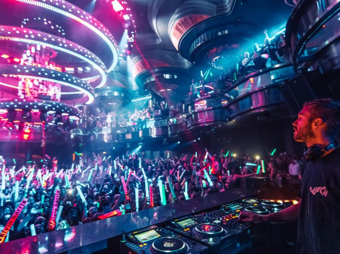 Calvin Harris Performs to a Sold-Out Crowd at OMNIA Nightclub in Las Vegas