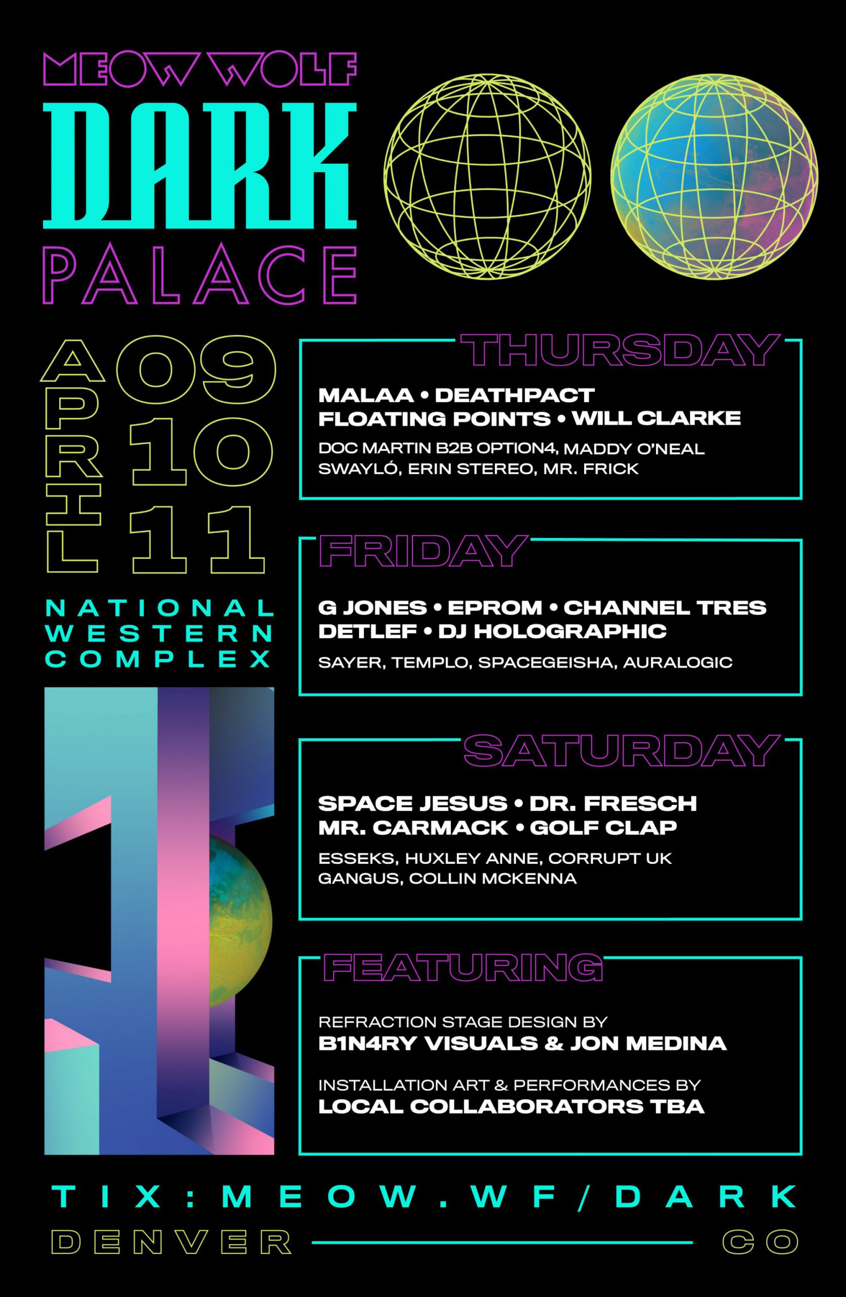 Meow Wolf Dark Palace Spring 2020 - Lineup