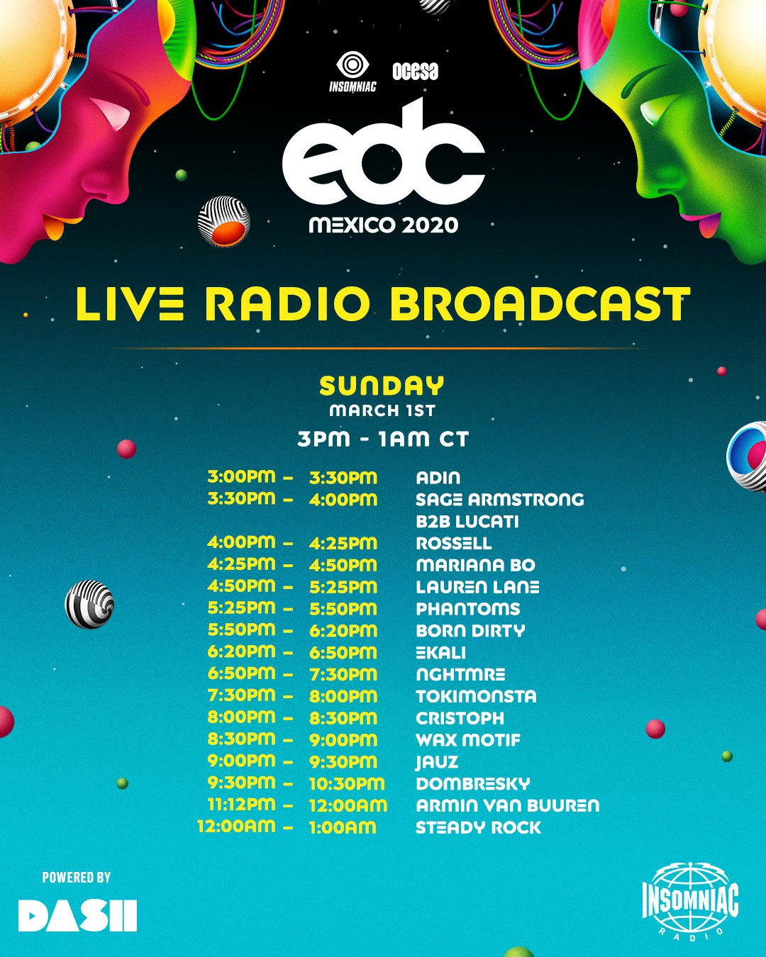 EDC Mexico 2020 Insomniac Radio Broadcast - Sunday
