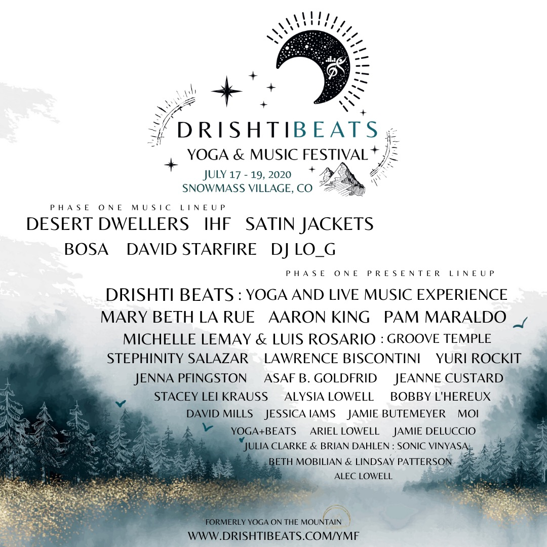 Drishti Beats Yoga and Music Festival 2020 Lineup