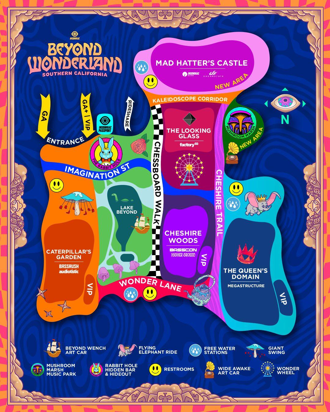 Beyond Wonderland SoCal 2020 Map