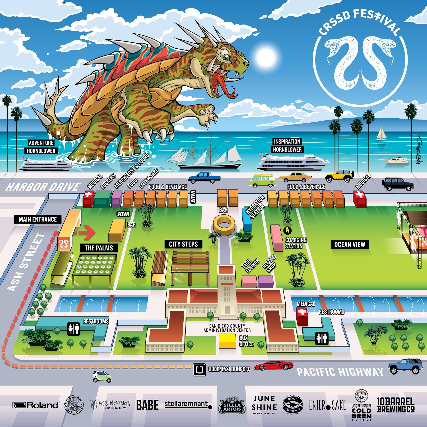 CRSSD Festival Spring 2020 - Map