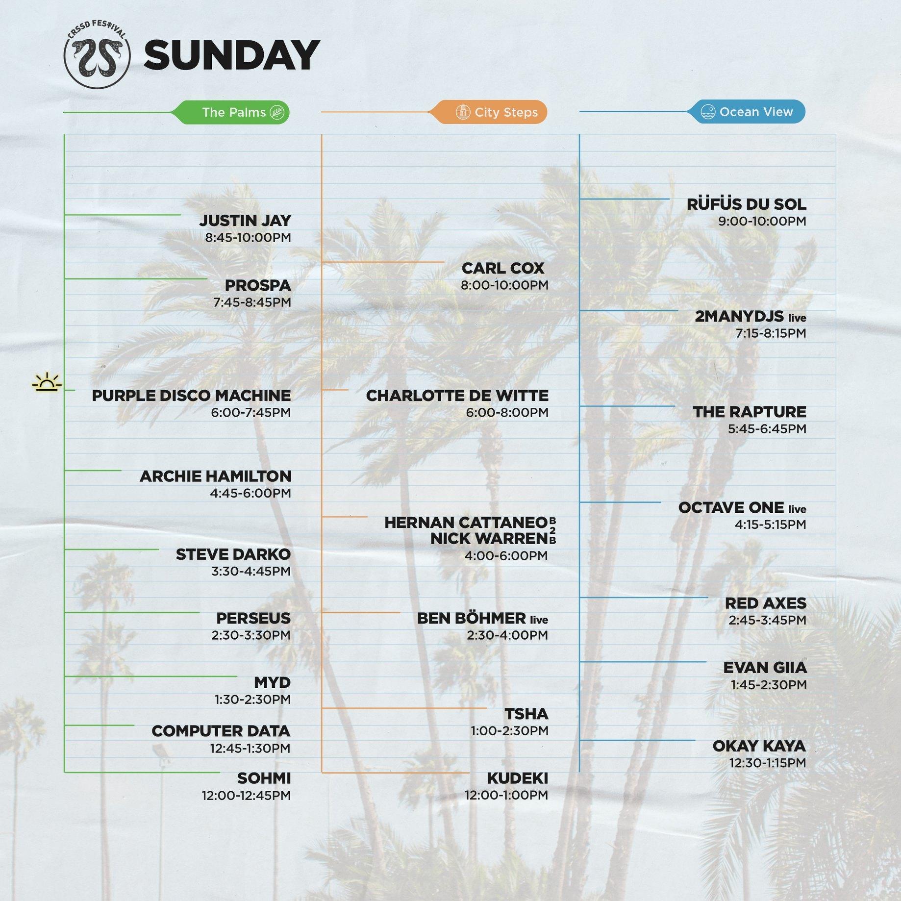 CRSSD Festival Spring 2020 - Sunday
