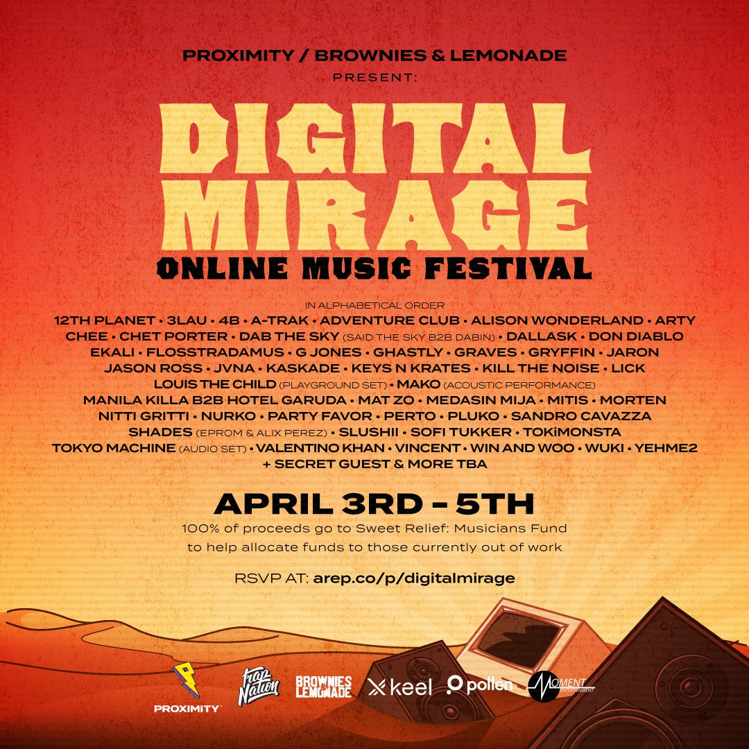 Digital Mirage Online Music Festival 2020 - Lineup