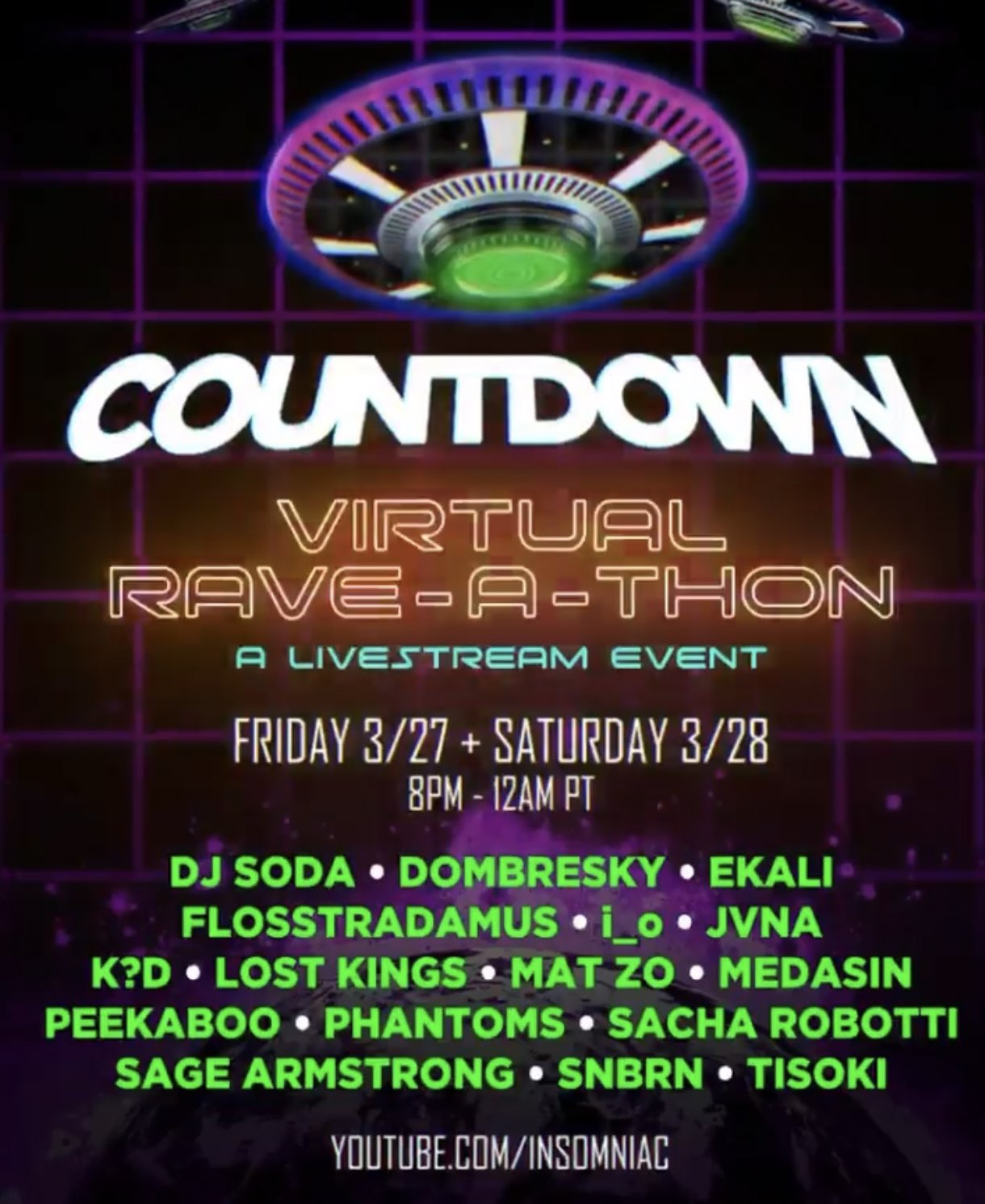Countdown Virtual Rave-A-Thon